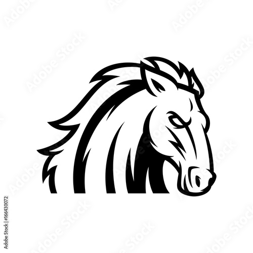 Fototapety, obrazy: Horse Vector Logo Illustration