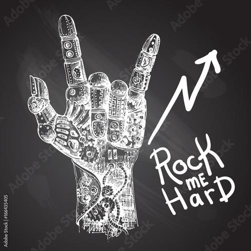 illustration mechanical hand © Steshnikova