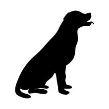 Dog Icon. Labrador Silhouette ...