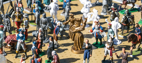 Obraz na plátně classic hand painted French Revolution old lead figurines, garage sale
