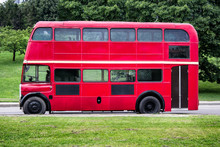 Red Double Decker Bus Parked I...