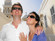 Couple with sunglasses on