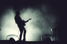 Silhouette Of A Guitar Player ...