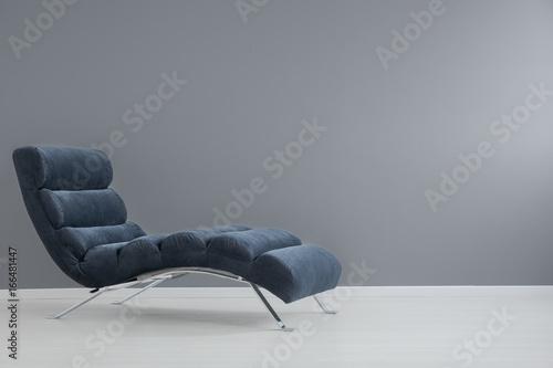 Navy blue chaise lounge Fototapeta