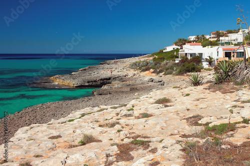Fotobehang Kust Mediterranean coast. Punta Prima, Minorca, Spain