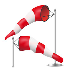 Windsock Vector. Realistic Met...