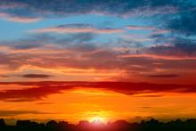 Beautiful Summer Sunset Over T...
