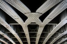 Steel Beams Of A Rail Bridge