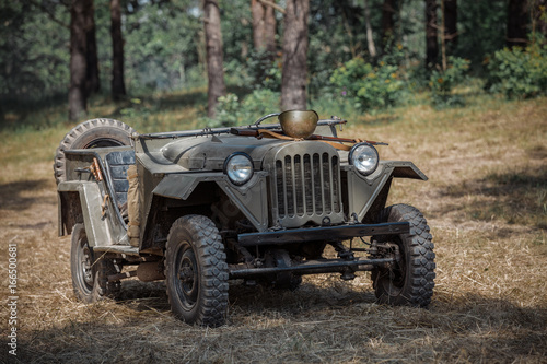 Soviet jeep GAZ 67 - Buy this stock photo and explore