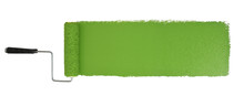 Paint Roller With Logn Green Stroke