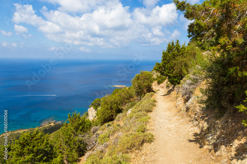 Foto op Plexiglas Cyprus Path in the mountains on the peninsula of Akamos, Cyprus