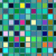 Pattern of small multicolor squares