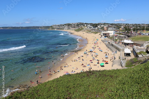 Poster de jardin Europe Méditérranéenne A sunny day at Merewether Beach on the Central Coast of New South Wales in Australia