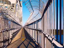 Jacques Cartier Bridge Multipurpose Path And Sidewalk, Montreal, Quebec, Canada