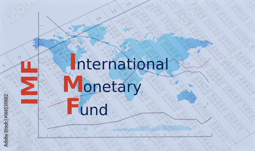 Obraz na plátne Acronym IMF - International Monetary Fund