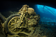 WWII Motorcycle On A Wreck