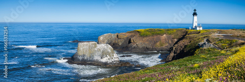 Tuinposter Kust Yaquina Head Lighthouse, Oregon, USA