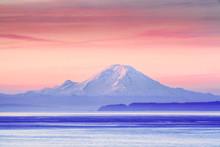The Puget Sound And Mount Rainier At Sunrise, Washington, USA