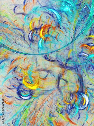 Printed kitchen splashbacks Purple Abstract fractal background