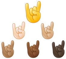 Sign Of The Horns Hand Emoji