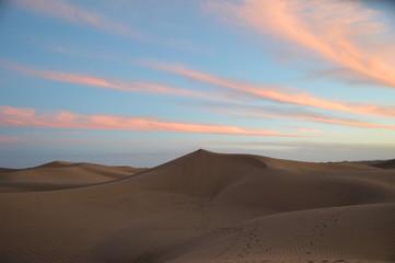 Fototapeta na wymiar Abendrot in der Wüste