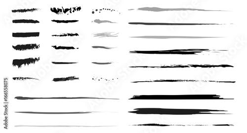 Fototapeta Sammlung Pinselstriche als grafische Elemente als Vektoren obraz