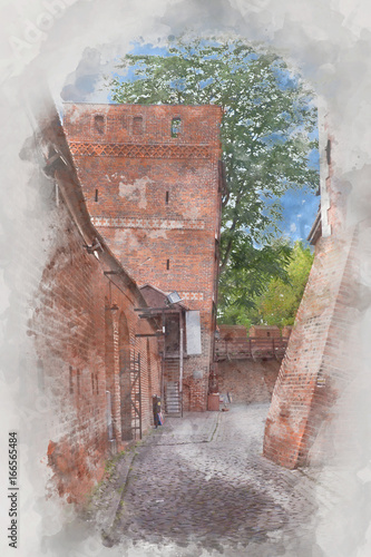leaning-tower-torun-poland-digital