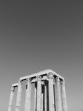 Temple of Zeus - black and white (Athens, Greece) - 166565872