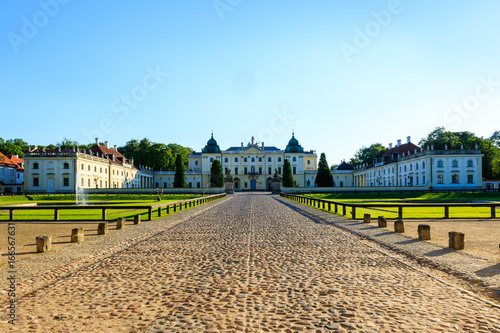 Fototapeta Baroque building of the Branicki Palace, an aristocratic residential complex of