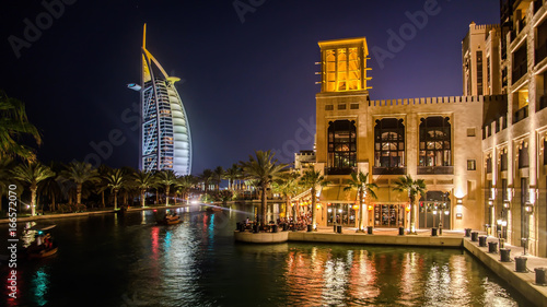 Cityscape of Jumeirah beach with Burj El Arab Hotel Wallpaper Mural