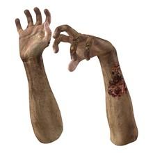 Zombie Halloween Hand On White. 3D Illustration