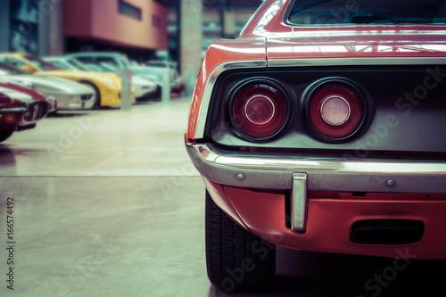 Photo sur Aluminium Vintage voitures Oldtimer Detailansicht