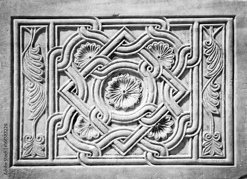 Poster de jardin Cailloux Bassorilievo in marmo da palazzo veneziano