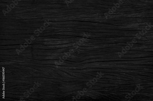 Tuinposter Stenen black wood background texture. Blank for design