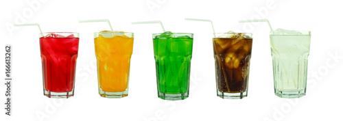 Fotografie, Obraz  Set of solf drinks isolated on white background