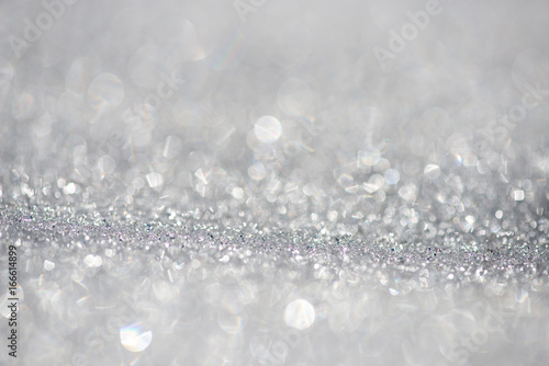 Fototapety, obrazy: Snow background  bokeh - shallow focus, space for text