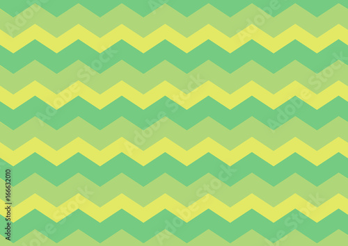 Foto op Canvas ZigZag Green and yellow curves, geometric abstract background, vector illustration