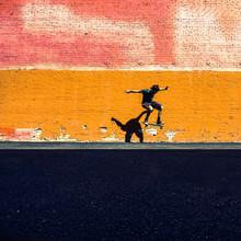 Skateboarder Jumps