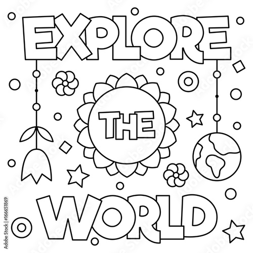 explore-the-world-coloring-page