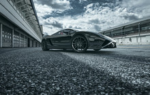 Schwarzes Supercar 3d Render