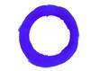 Blauer unsauber gemalter Kreis