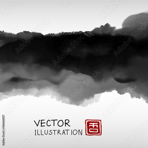 Fotografie, Obraz  Abstract ink background. Marble style.