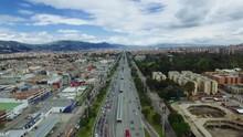 Aerial Bogota Autopista Norte ...