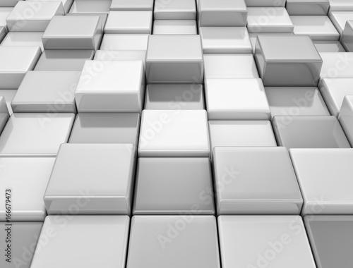 Fotobehang Stof GLossy cubes geometric design background