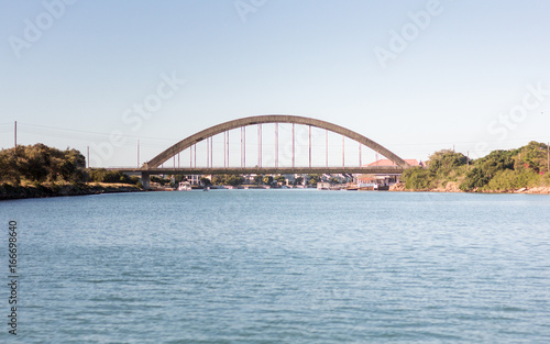 Deurstickers Australië Bridge Over River