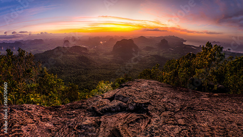 Canvas Prints Akt Panorama Viewpoint Sunset khao ngon nak at Krabi,Thailand.