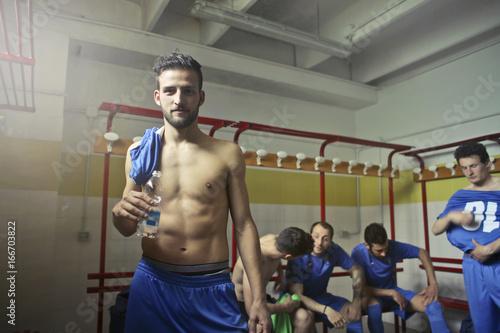 Fototapeta In the locker room