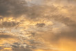 Abstract sunset sky background with clouds