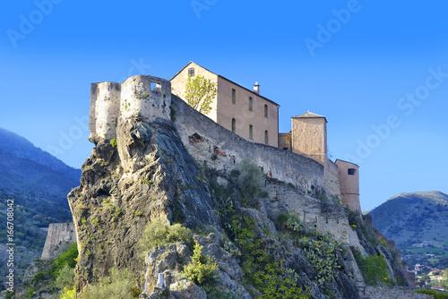 Fotografie, Obraz  Point Belvedere, Citadel, Corte, Corsica, France