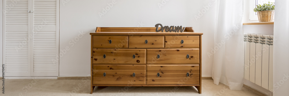 Fototapeta Wooden classic commode